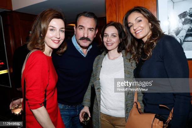 Elsa Zylberstein, Jean Dujardin, his wife Nathalie Pechalat and Nadia Fares attend Claude Lelouch receives the Insignia of Officer of the Legion of...