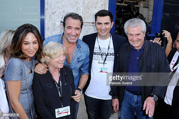 Elsa Zylberstein Jean Dujardin Xavier Bonnefont and Claude Lelouch attend the 8th Angouleme FrenchSpeaking Film Festival on August 28 2015 in...