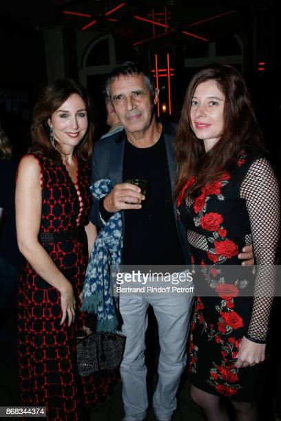 Elsa Zylberstein Julien Clerc and his wife Helene Gremillon attend Claude Lelouch celebrates his 80th Birthday at Restaurant Victoria on October 30...