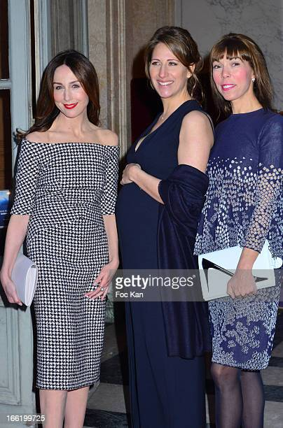 Elsa Zylberstein Maud Fontenoy and Mathilde Favier attend the Maud Fontenoy Foundation Annual Gala Arrivals at Hotel de la Marine on April 9 2013 in...