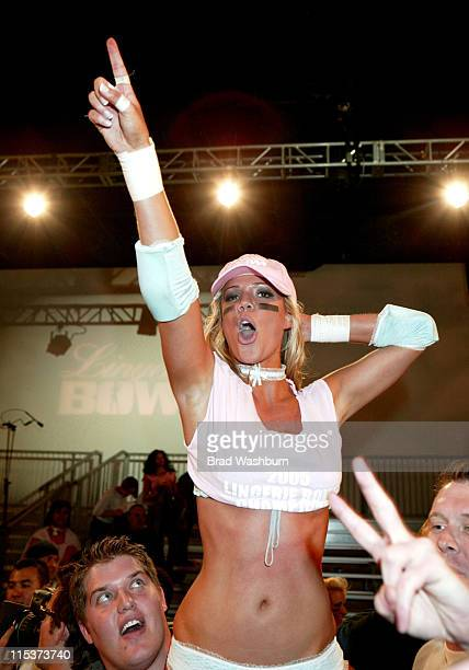 Elsabeth Rouffaer of LA Temptation during Lingerie Bowl HalfTime Challenge 2005 February 6 2005 at South Bay Studios Long Beach in Los Angeles...