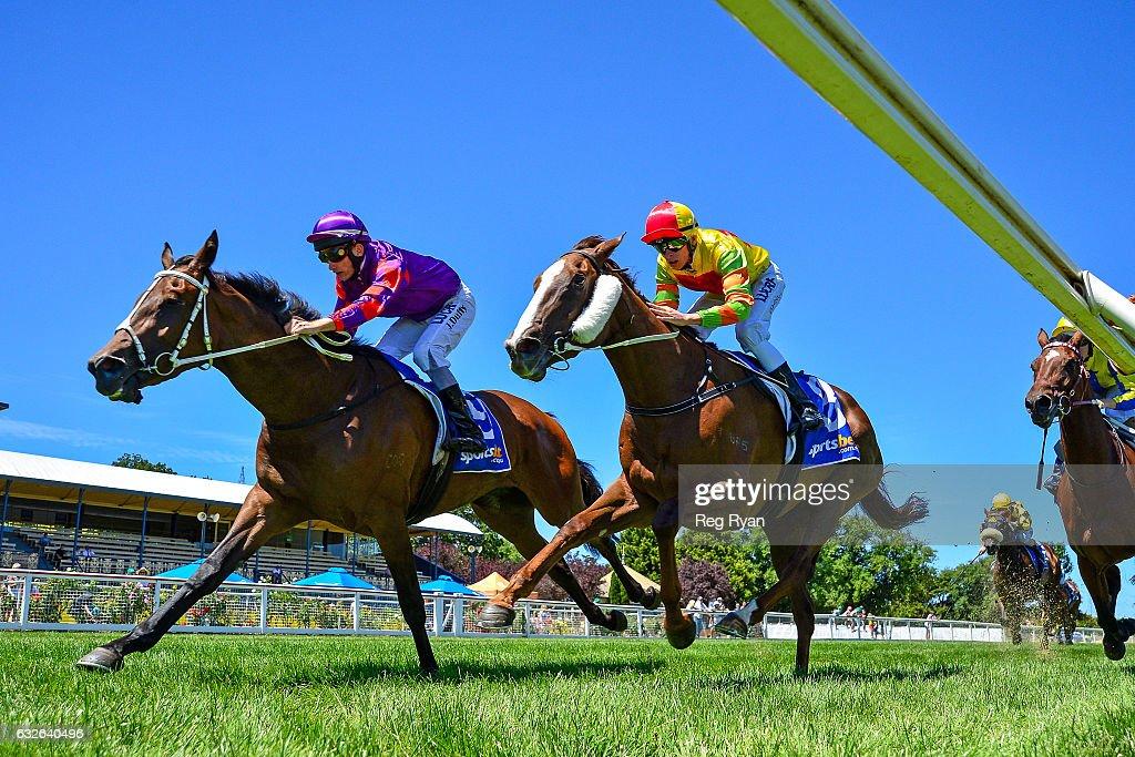 Elsaray ridden by Jake Duffy wins Last Straw Hay Supplies F&M Maiden Plate at Sportsbet-Ballarat Racecourse on January 25, 2017 in Ballarat, Australia.