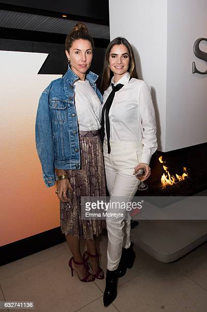 Else Van Zandwijk and Marija Karan attend 'Art Los Angeles Contemporary host committee members and collectors Joel Lubin and wife Marija Karan host...