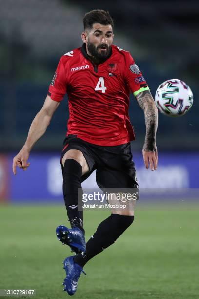 Elseid Hysaj of Albania during the FIFA World Cup 2022 Qatar qualifying match between San Marino and Albania at San Marino Stadium on March 31, 2021...