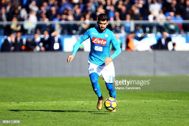 Elseid Hysaj of Ssc Napoli in action during the Serie A football match between Atalanta Bergamasca Calcio and Ssc Napoli. Ssc Napoli wins 1-0 over...