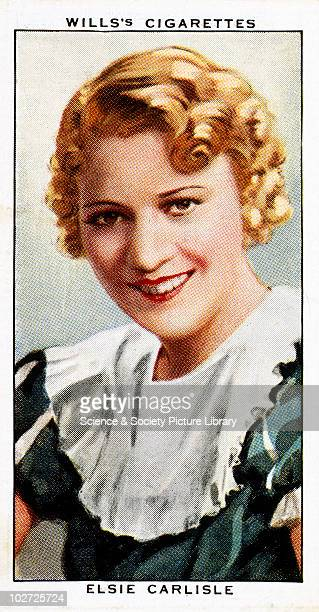 'Elsie Carlis' cigarette card Wills' cigarette card from 'Radio Celebrities' 1934 Number 44 of the second series of portraits of people famous for...