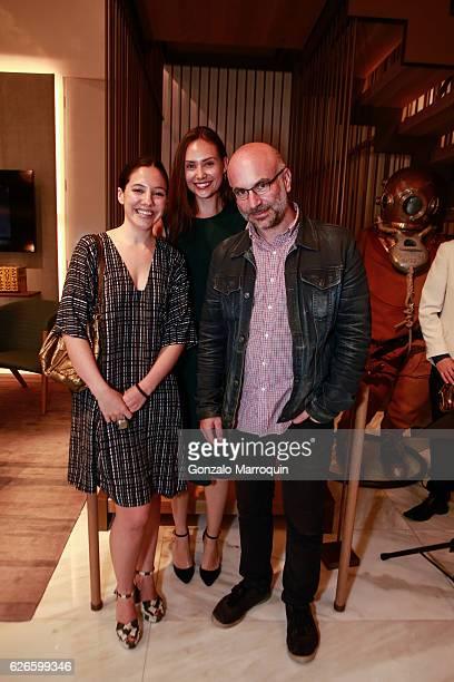 Elsie DedeckerAllison Dolegowski and Philip Nobel at the Angelo Bonati Celebrates SHoP Architects the Winner of the 2016 Panerai Design Miami...