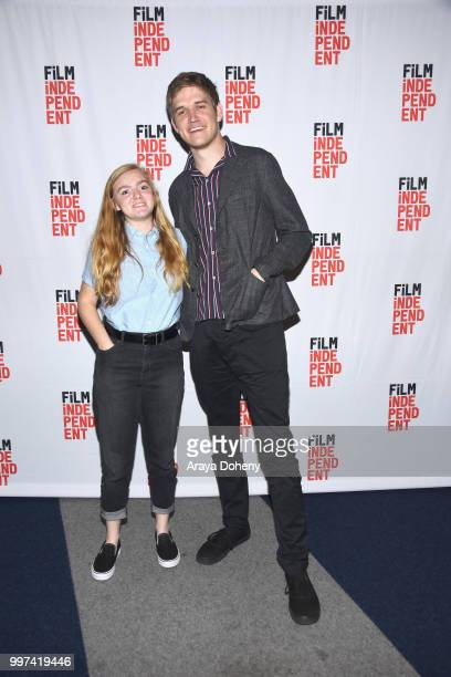 Elsie Fisher and Bo Burnham attend Film Independent at The WGA Theater presents screening and QA of Eighth Grade at The WGA Theater on July 12 2018...