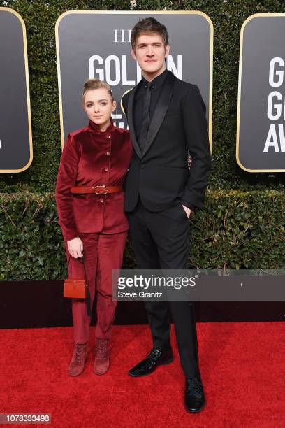 Elsie Fisher and Bo Burnham attend the 76th Annual Golden Globe Awards at The Beverly Hilton Hotel on January 6 2019 in Beverly Hills California