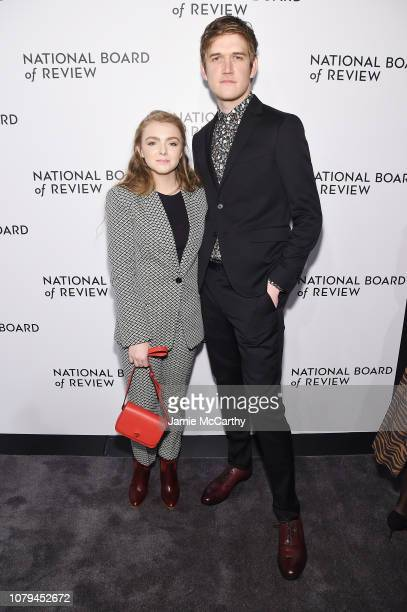 Elsie Fisher and Bo Burnham attend The National Board of Review Annual Awards Gala at Cipriani 42nd Street on January 8 2019 in New York City