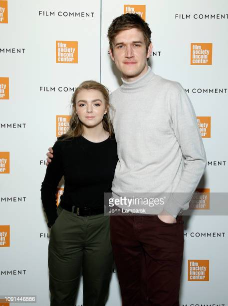 Elsie Fisher and Bo Burnham attends Film Society of Lincoln Center Film Comment Annual Luncheon at Lincoln Ristorante on January 08 2019 in New York...