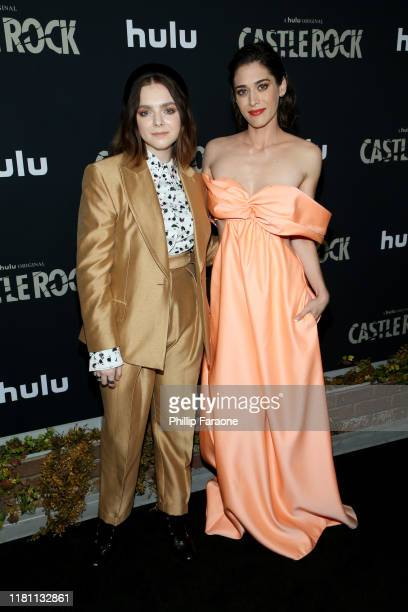 """Elsie Fisher and Lizzy Caplan attend the premiere of Hulu's """"Castle Rock"""" Season 2 at AMC Sunset 5 on October 14, 2019 in Los Angeles, California."""