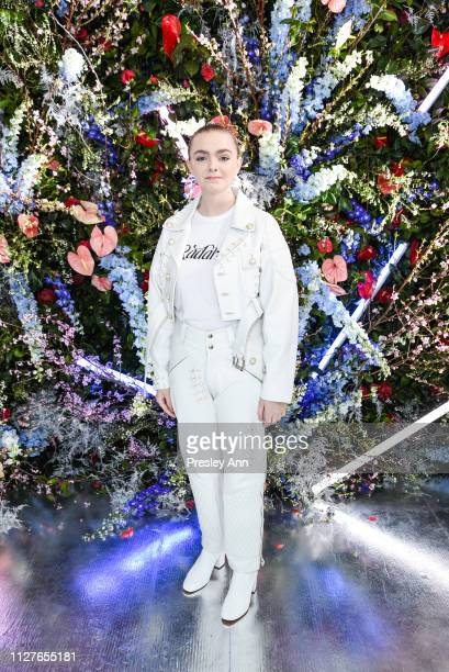 Elsie Fisher attends Rodarte FW19 Fashion Show at The Huntington Library and Gardens on February 05 2019 in San Marino California