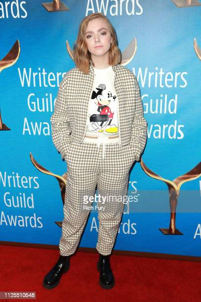 Elsie Fisher attends the 2019 Writers Guild Awards LA Ceremony at The Beverly Hilton Hotel on February 17 2019 in Beverly Hills California