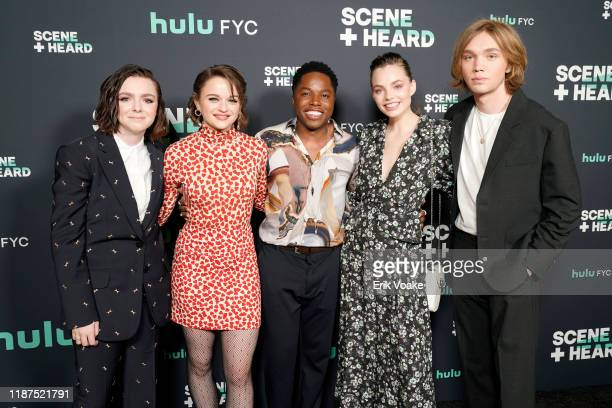 Elsie Fisher Joey King Denny Love Kristine Froseth and Charlie Plummer attend the 2019 Hulu Scene and Heard SAG Event at Pacific Design Center on...