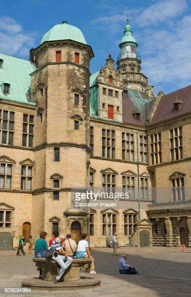 Elsinor Denmark Courtyard of Kronborg Castle The castle is the setting of Shakespeare's play Hamlet The castle is a UNESCO World Heritage Site