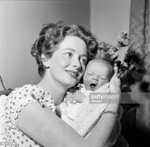 Elspet Gray with her newborn son James McGregor James a 7lb 15 oz baby boy was born to actress Elspet at the Princess Beatrice Hospital last night...