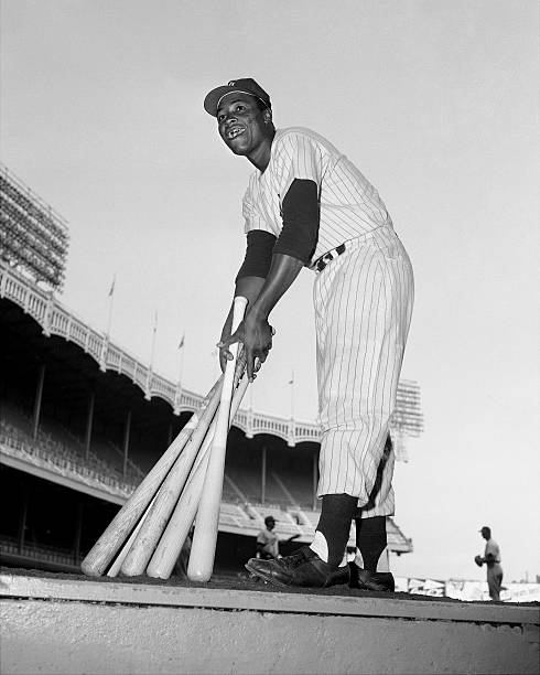 Elston Howard, the first black player to wear a Yankee unifo
