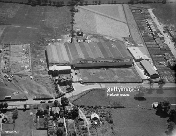 Elstree Studios Shenley Road Borehamwood Hertfordshire 1928 Aerial view of the premises of British International Pictures Ltd Artist Aerofilms