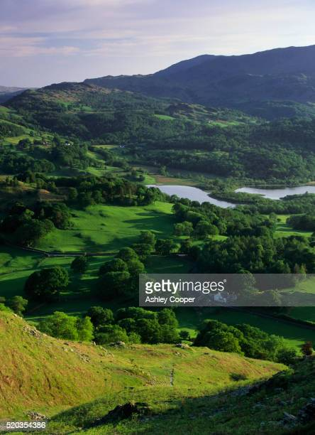 Elterwater Lake and Common in Lake District