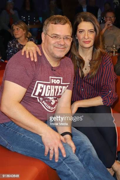 Elton and Linda Zervakis during the NDR Talk Show on February 2 2018 in Hamburg Germany