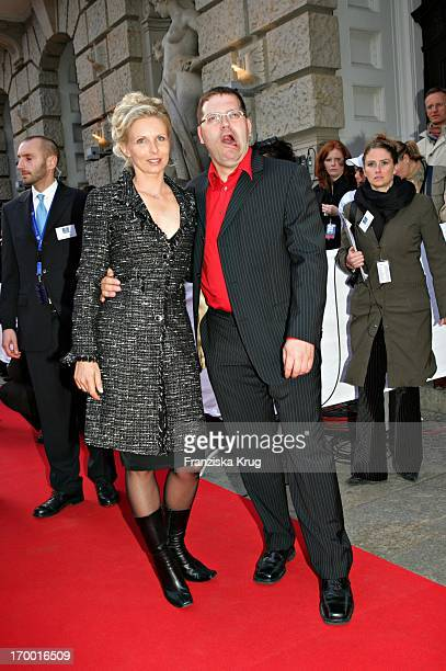 Elton And Wife Yvonne At The Premiere Of The Musicals The 3 Musketeers at Theater des Westens in Berlin