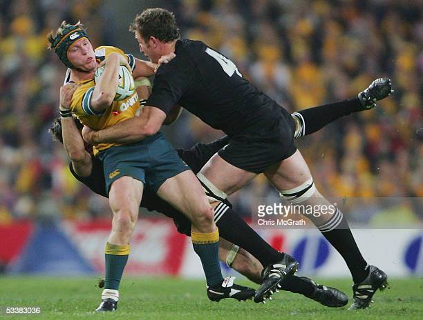 Elton Flatley of the Wallabies in action during the Tri Nations series Bledisloe Cup match between the Australian Wallabies and the New Zealand All...