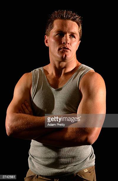 Elton Flatley poses for a portrait poses for a portrait during Wallabies in lead up for the 2003 Rugby World Cup final at Wallabies Camp November 19...