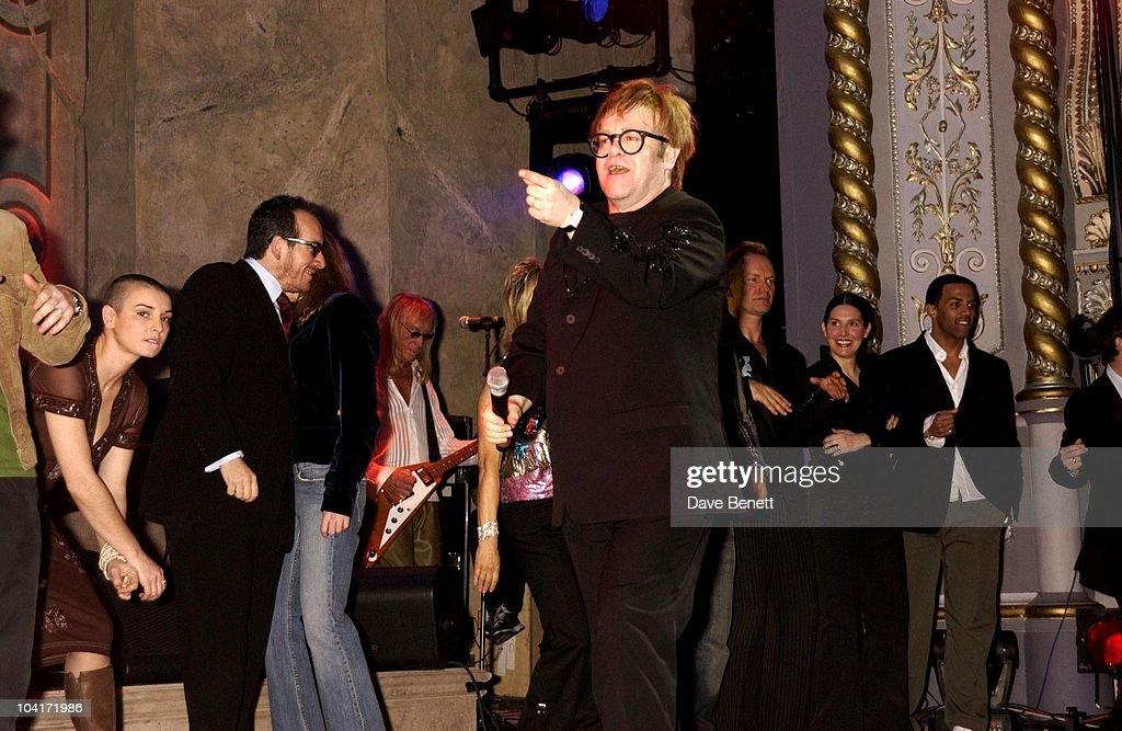 Elton J0hn, The Old Vic Theatre Benefit Party Held At The Old Vic Theatre London.