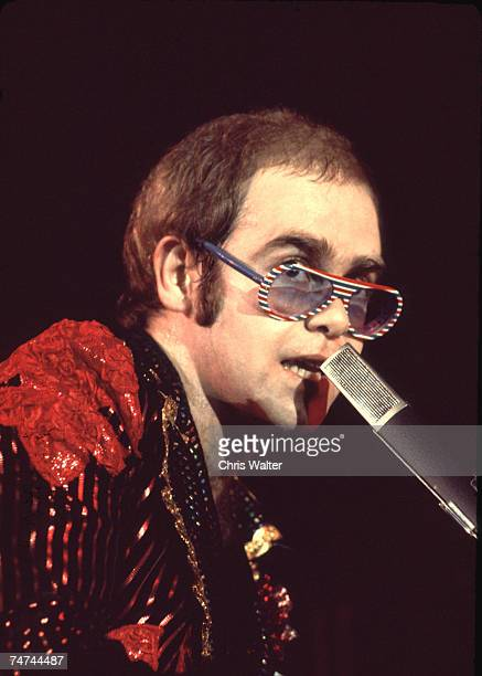 Elton John 1974 during Elton John File Photos 1970's in London United Kingdom