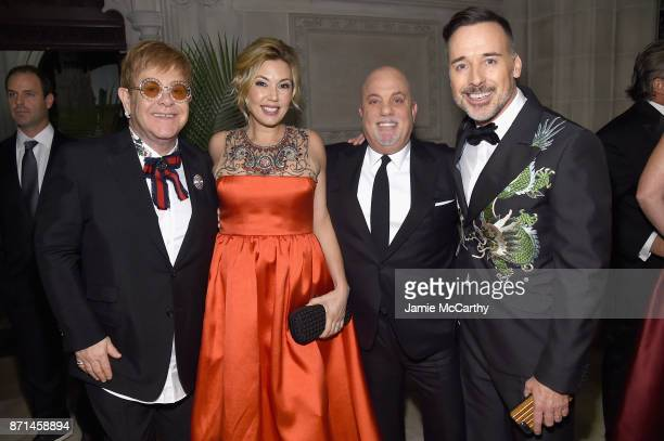 Elton John Alexis Roderick Billy Joel and David Furnish attend the Elton John AIDS Foundation Commemorates Its 25th Year And Honors Founder Sir Elton...