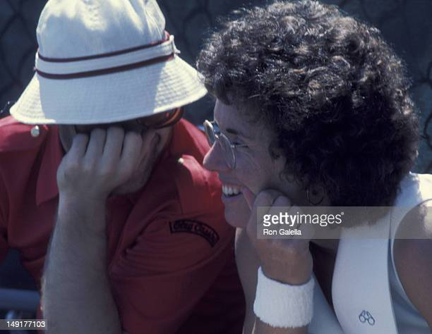 Elton John and Billie Jean King attend Fourth Annual Robert F Kennedy ProCelebrity Tennis Tournament on August 23 1975 at Forrest Hills Stadium in...