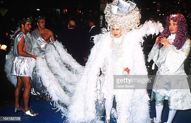 Elton John And Boyfriend David Furnish 'Elton John's 50th Birthday Party' Hammersmith Palais London