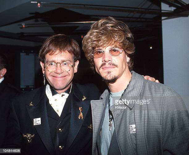 Elton John and Craig Scheffer during 65th Annual Academy Awards Elton John AIDS Foundation Party in Los Angeles California United States