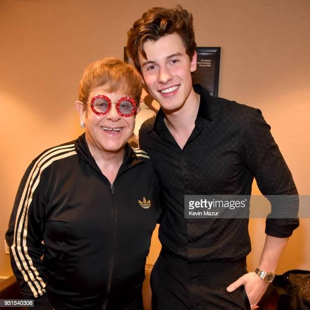 b43f4df2b34de2 Elton John and Shawn Mendes pose backstage during 60th Annual GRAMMY Awards  I'm Still