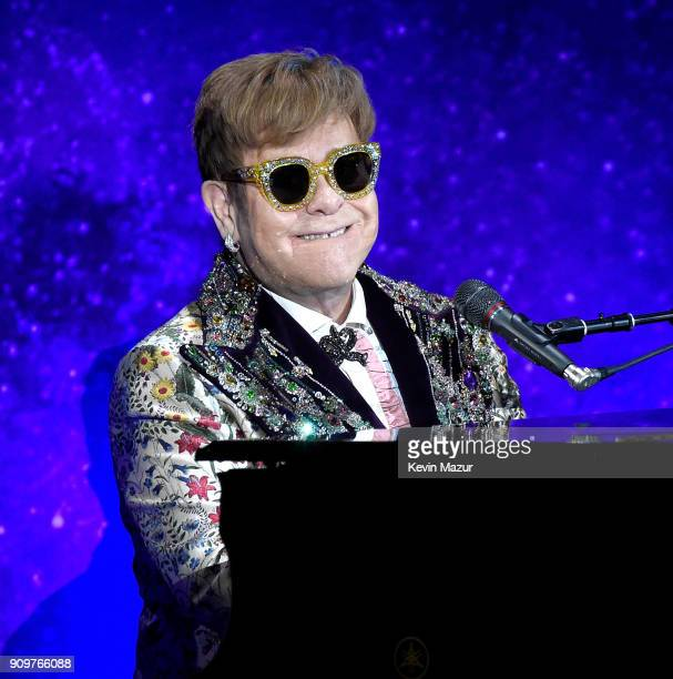 Elton John announces 'Farewell Yellow Brick Road' tour dates at Gotham Hall on January 24 2018 in New York City