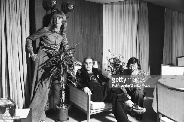Elton John at a hotel February 1974