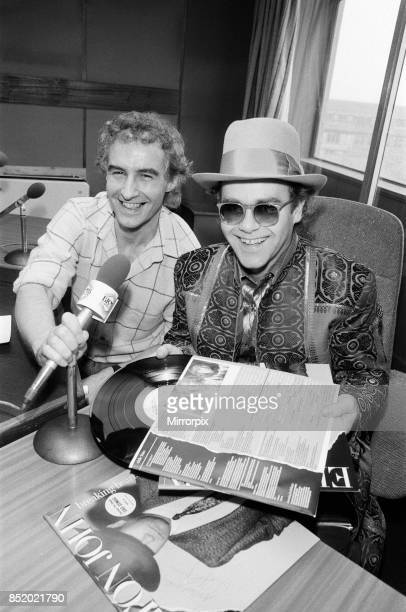 Elton John at BRMB Radio Aston Birmingham the visit was to promote his latest single 'Breaking Hearts ' and to also chat to his fans in the Midlands...