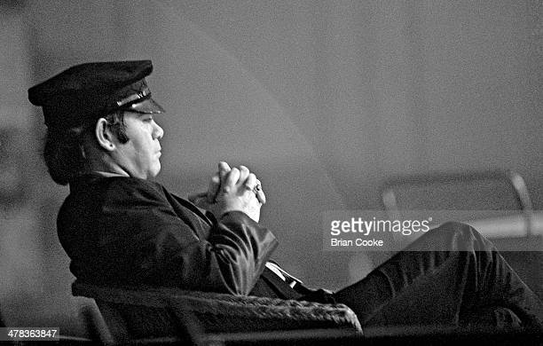 Elton John at Shepperton Studios near London on 1st June 1981 during the filming for a videogram for his album The Fox