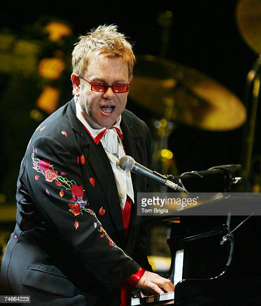 Elton John at the Elton John in Concert at Atlantic City Historic Boardwalk Hall October 7 2006 at Boardwalk Hall in Atlantic City New Jersey