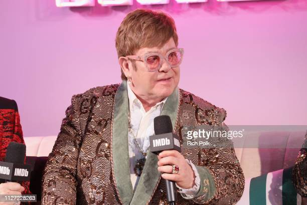 Elton John attends IMDb LIVE At The Elton John AIDS Foundation Academy Awards® Viewing Party on February 24 2019 in Los Angeles California