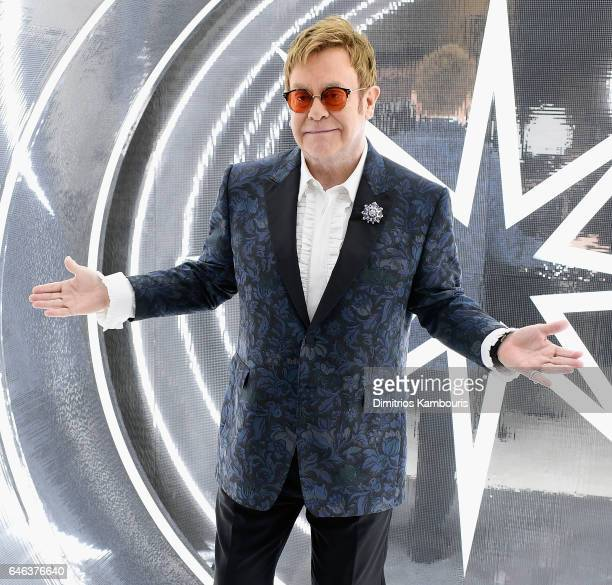 Elton John attends the 25th Annual Elton John AIDS Foundation's Academy Awards Viewing Party at The City of West Hollywood Park on February 26, 2017...