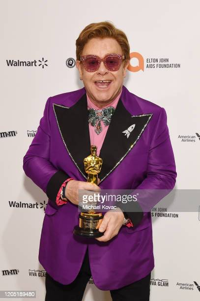 Elton John attends the 28th Annual Elton John AIDS Foundation Academy Awards Viewing Party sponsored by IMDb, Neuro Drinks and Walmart on February...