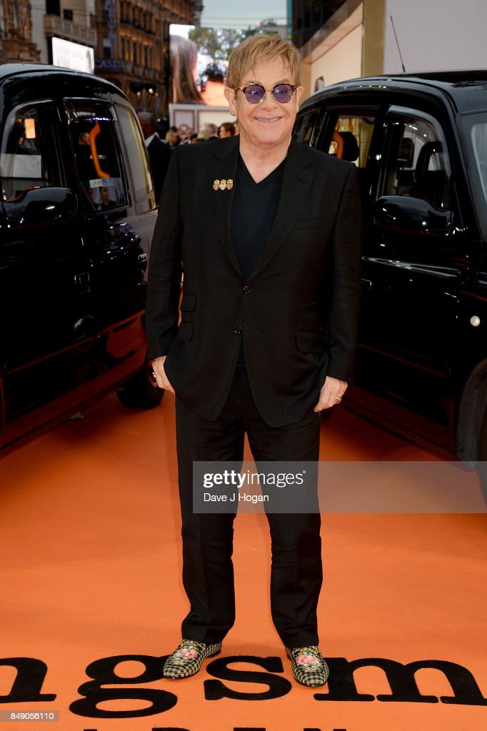 Elton John attends the 'Kingsman: The Golden Circle' World Premiere held at Odeon Leicester Square on September 18, 2017 in London, England.