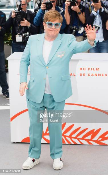 """Elton John attends the photocall for """"Rocketman"""" during the 72nd annual Cannes Film Festival on May 16, 2019 in Cannes, France."""