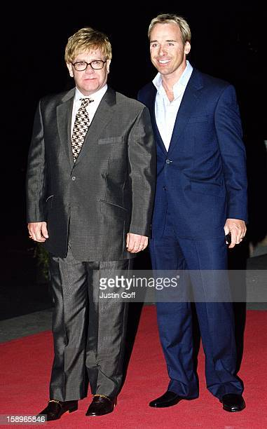 Elton John David Furnish Attend The 2001 Gq Magazine 'Men Of The Year' Awards At London'S Victoria And Albert Museum