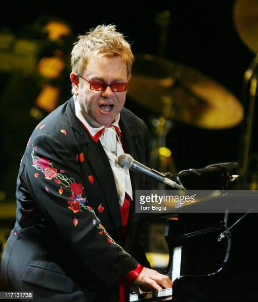 Elton John during Elton John in Concert at Atlantic City Historic Boardwalk Hall October 7 2006 at Boardwalk Hall in Atlantic City New Jersey United...