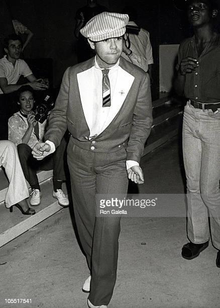 Elton John during Roberta Flack Party at Xenon Disco in New York City New York United States