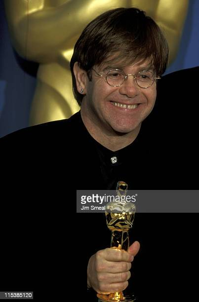 Elton John during The 67th Annual Academy Awards Press Room at Shrine Auditorium in Los Angeles California United States