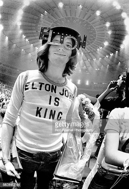 Elton John fan at Madison Square Garden New York City August 1976